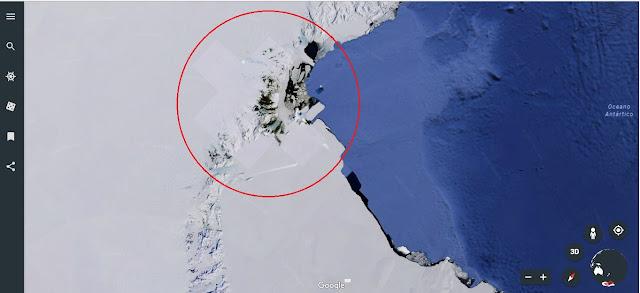 Estranha manipulação em um lugar determinado da Antártida