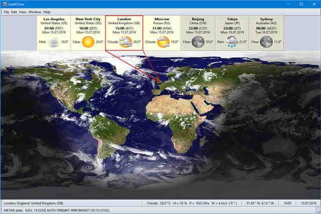 تنزيل برنامج إيرث تايم لمعرفة التوقيت الزمني المحلي وتاريخ أي مكان في العالم