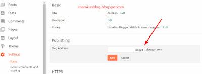 Cara Mengganti Alamat Blog di Blogger Untuk Pemula