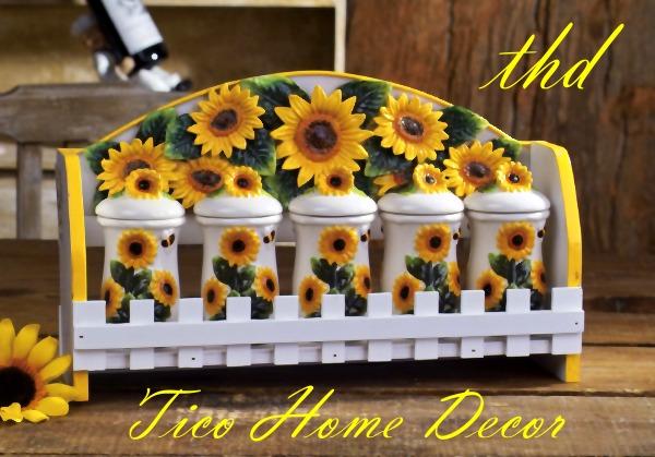 Steals and Styles: My Sunflower Kitchen! :)