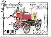 Selo Carro de bombeiros de 1901