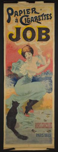 Affiche pour le papier à cigarettes Job, Gerorges Meunier, Chaix imprimeur, lithographie, 1894