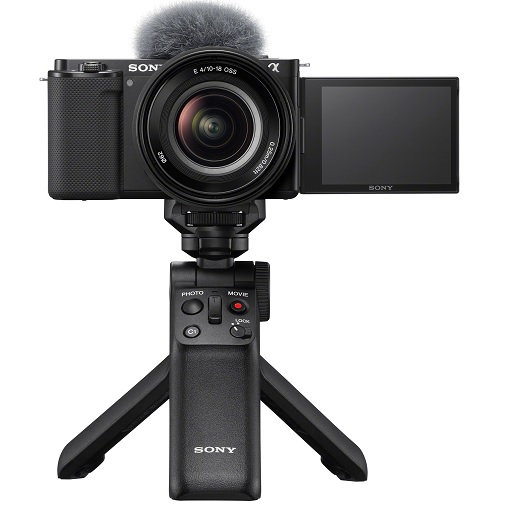 Sony Alpha ZV-E10 with GP-VPT2BT Shooting Grip