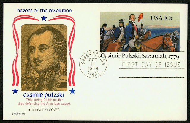 Casimir Pulaski, Polish-American general FDC