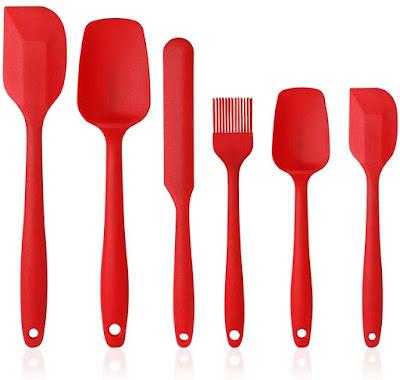 Silikon Küchenhelfer Set in wunderbarem Rot