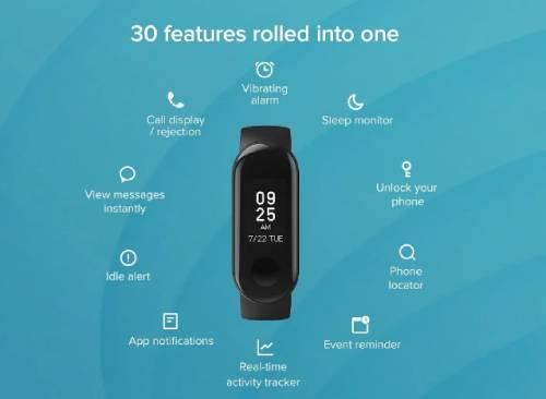 Spesifikasi Mi Smart Band 3i Di India