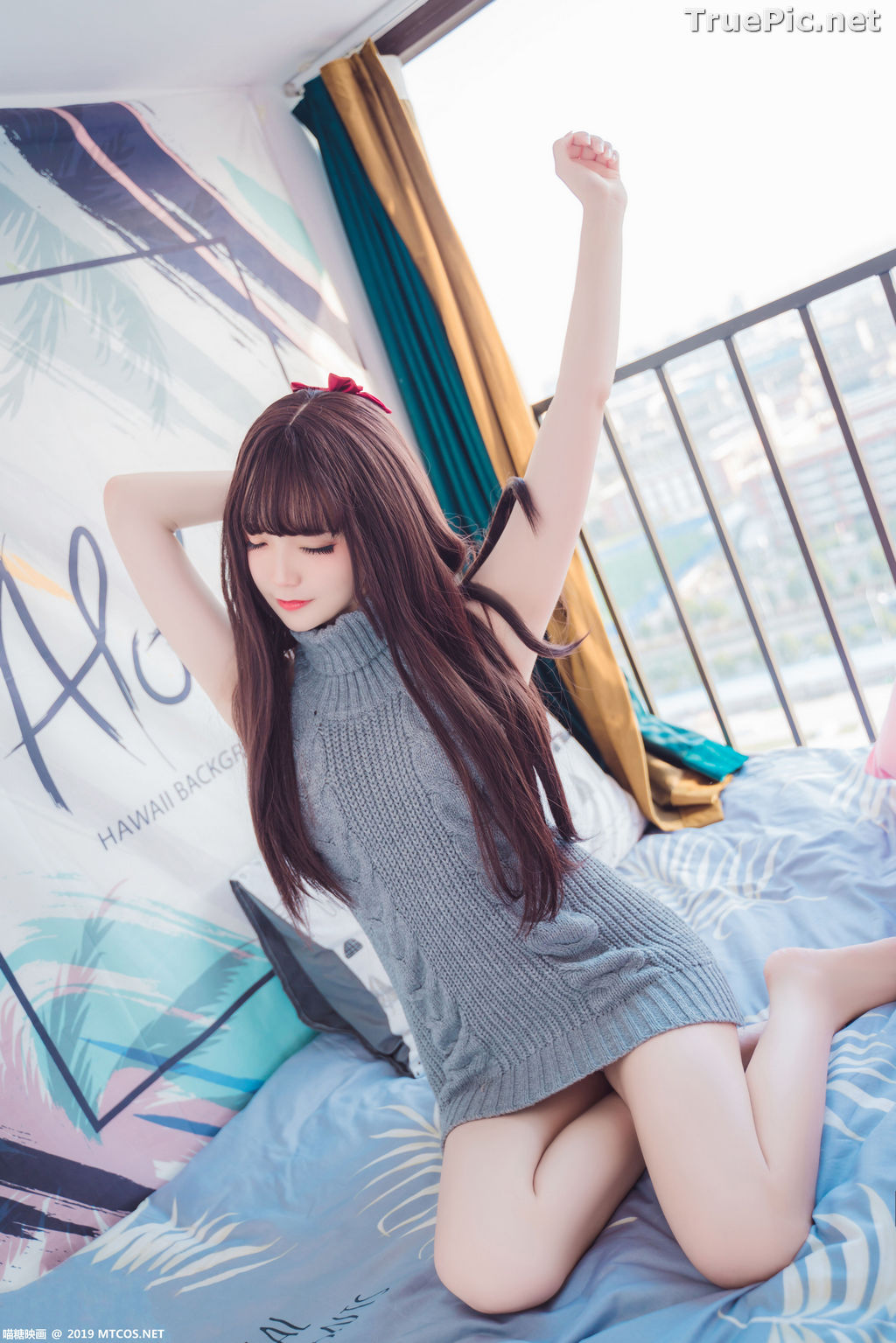 Image [MTCos] 喵糖映画 Vol.030 – Chinese Cute Model – Open Back Sweater - TruePic.net - Picture-13