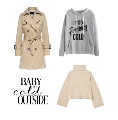 Outfits invierno crema gris