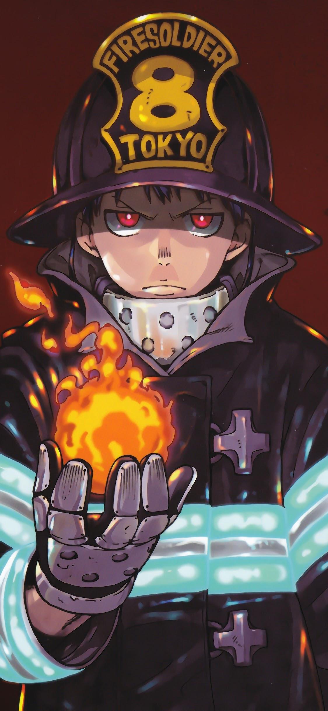 Fire Force Shinra Flame 8k Wallpaper 16