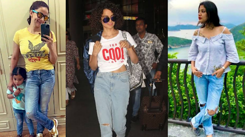 Ripped Jeans Trends on Twitter, Kangana Ranaut joins in