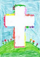 Ostermotiv Osterkreuz gemalt