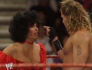 WWF/WWE ROYAL RUMBLE 1993 - Shawn Michaels confronts Sensational Sherri