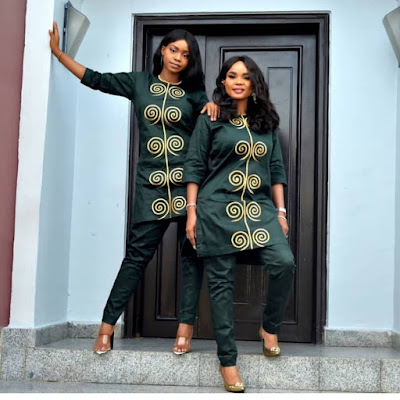 Iyabo Ojo and daughter Priscy matching outfits