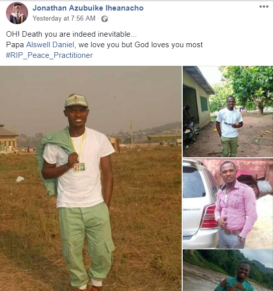 NYSC Member Dies Just One Month To Passing Out