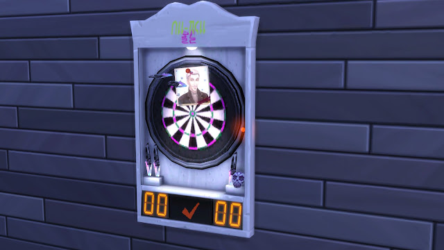Sims 4 Functional Trickster Dartboard