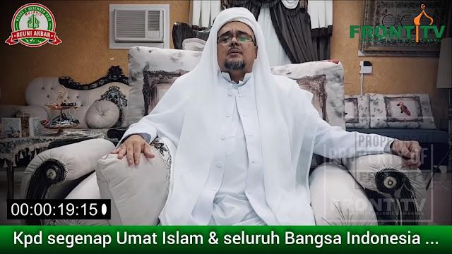 Habib Rizieq Serukan Amanat Perjuangan untuk Perubahan, Ini Isinya