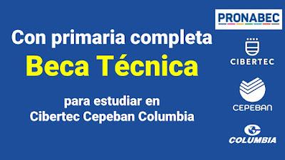 Con primaria completa postula a la Beca Técnica para estudiar en prestigiosos institutos de Huancayo Lima Arequipa Piura