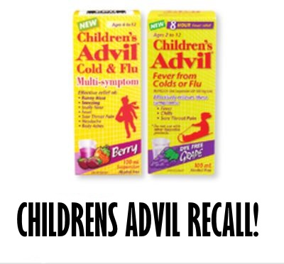 Product Recall Advil Infant & Children Liquids