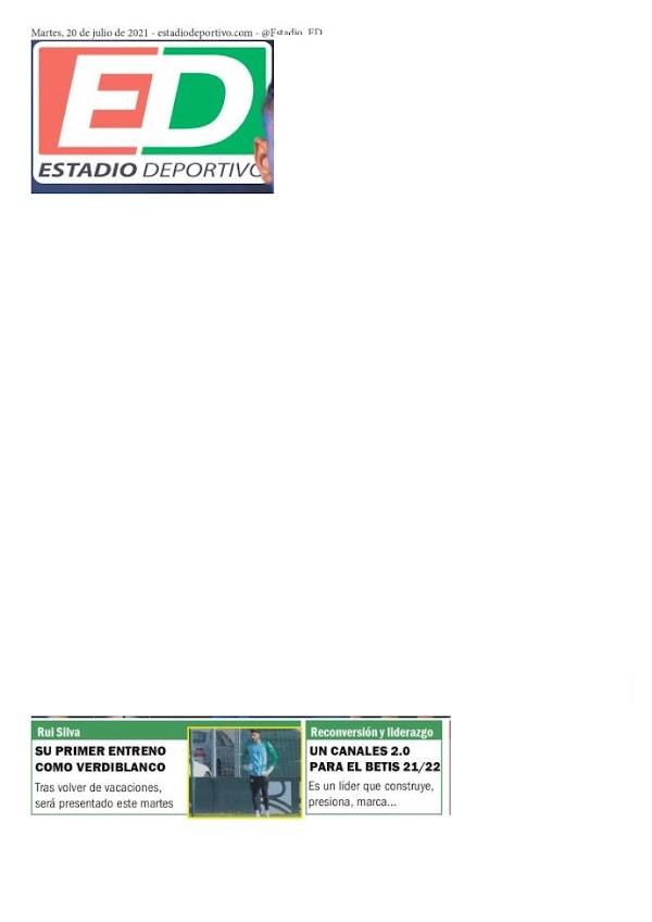 """Betis, Estadio Deportivo: """"Su primer entreno como verdiblanco"""""""