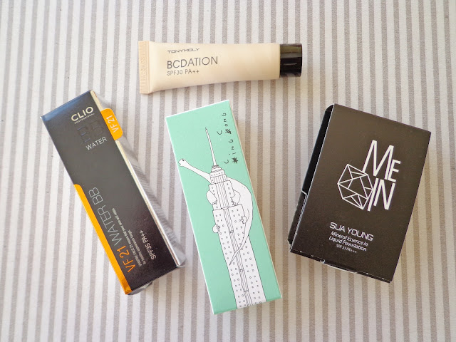 Korean Makeup Base Products - Tony Moly, Clio, Too Cool for School, Mein