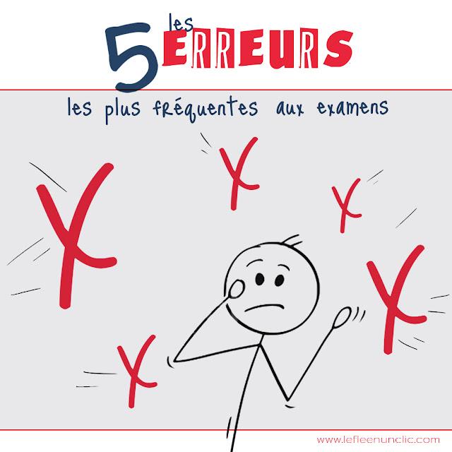 les 5 erreurs les plus fréquentes aux examens, français, fle, le FLE en un 'clic'