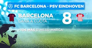 Paston Megacuota champions Barcelona vs PSV 18 septiembre