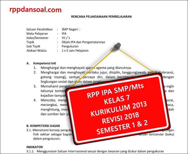 Perangkat Pembelajaran Ipa Smp Kelas 7 Kurikulum 2013 ...