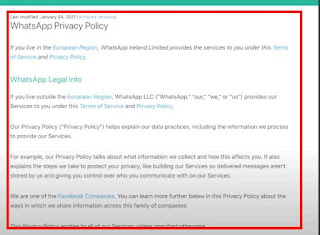 WhatsApp New Privacy & Policy Update