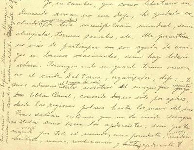 Carta manuscrita de Esteban Canal a Jorge Boisset, parte 2