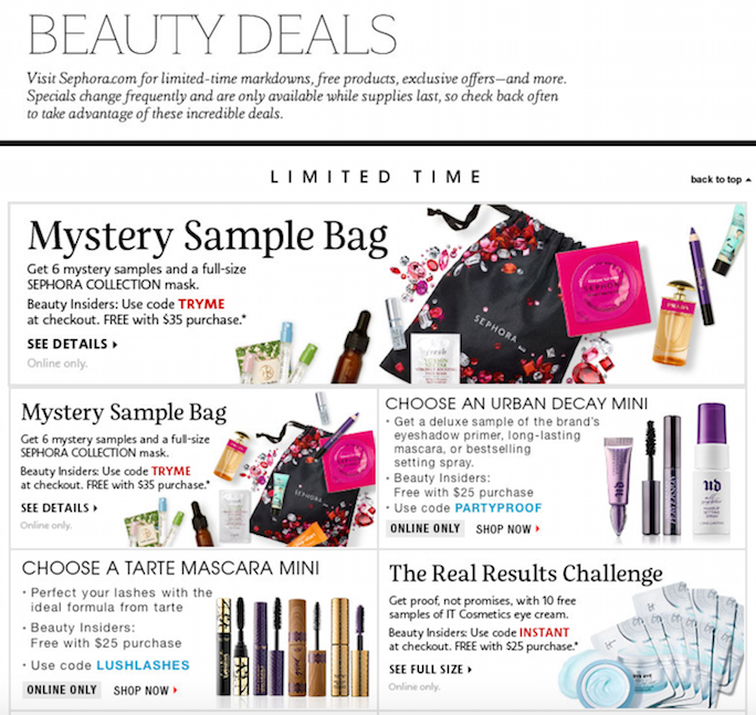 Sephora beauty deals