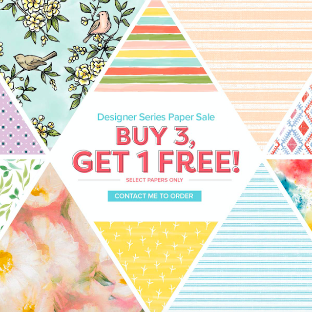 Nigezza Creates Stampin' Up! Offers buy 3 get 1 free DSP
