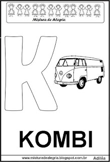 Alfabeto cartaz letra K