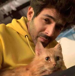 Kartik Aaryan With Cat