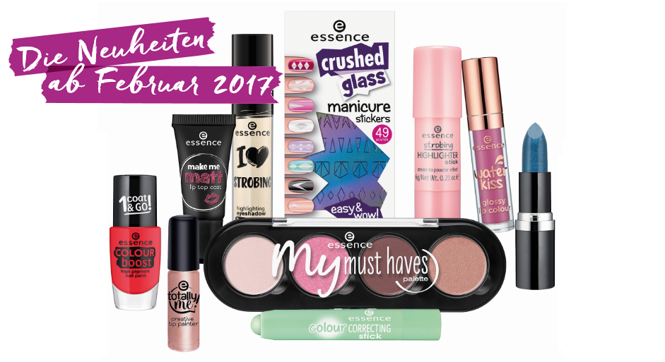 2017, beauty, cosmetics, drogerie, essence, farbtrends, favoriten, foundation, frühjahr / sommer 2017, frühling, highlights, kollektion, lidschatten, lippenstift, nagellack, neue produkte, neues sortiment, neuheiten,