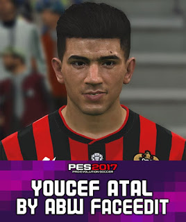 PES 2017 Faces Youcef Atal by ABW_FaceEdit
