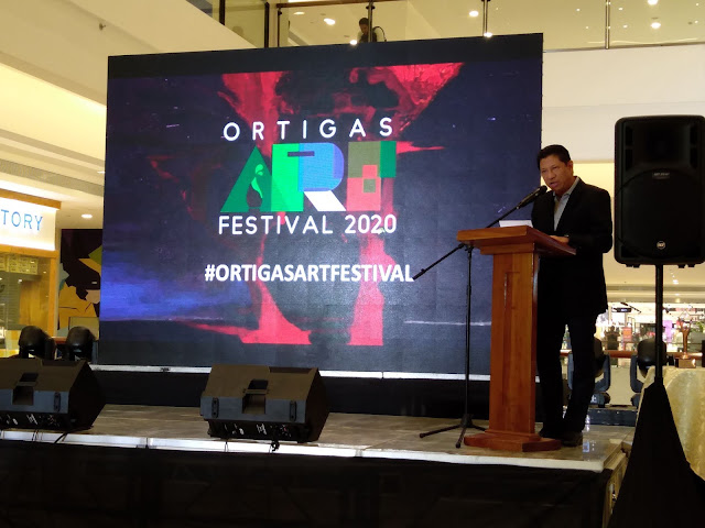 Mr. Jimmy Ysmael, President and CEO of Ortigas Land during the opening of Ortigas Art Festival 2020