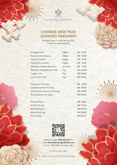 Chinese New Year 2021 Festive Delights @ Eastern & Oriental Hotel, Penang