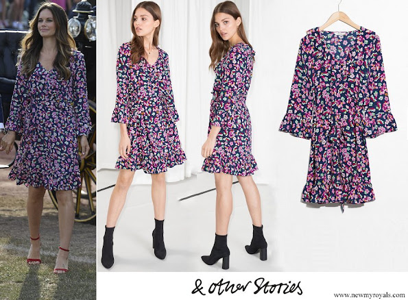 Princess Sofia wore & Other Stories Tie Frill Dress