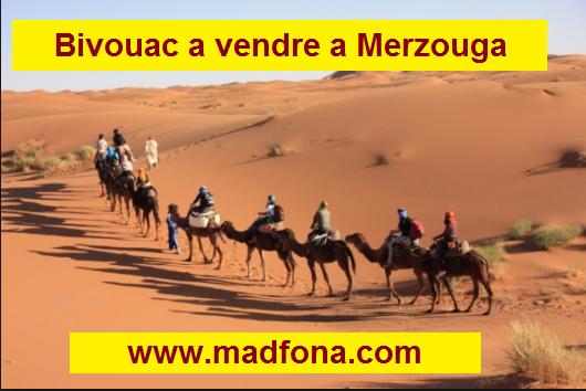خيام ضيافة للبيع بمرزوكة  Bivouac a vendre a Merzouga