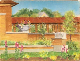 pergola painted by Kath Schifano