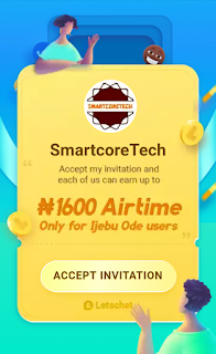 Get Free N300 airtime and upto N5000 airtime on Letchat app