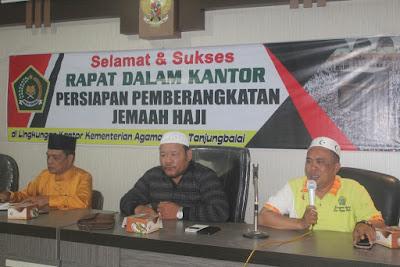 Kemenag Tanjungbalai Adakan RDK Persiapan Pemberangkatan Jamaah Haji