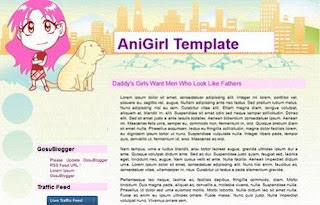 AniGirl - Anime Blogger Template - Girl