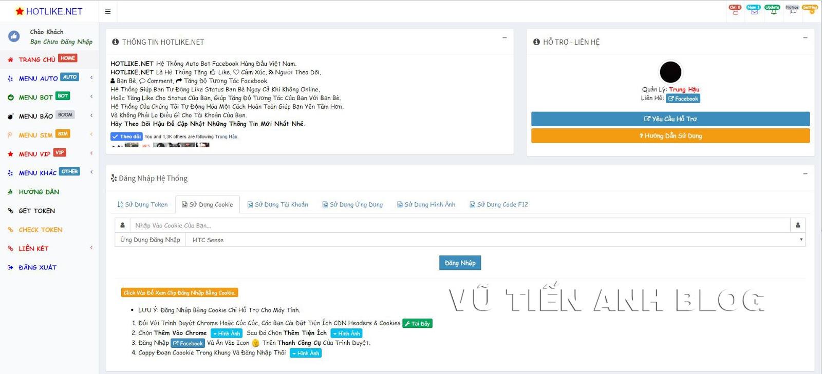 Share Code Bot Like HotLike Mod Đẹp