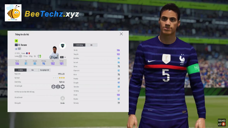 FIFA ONLINE 4 | Review Raphaël Varane 21 TOTS