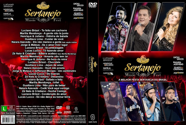 Capa DVD Sertanejo Music Fest