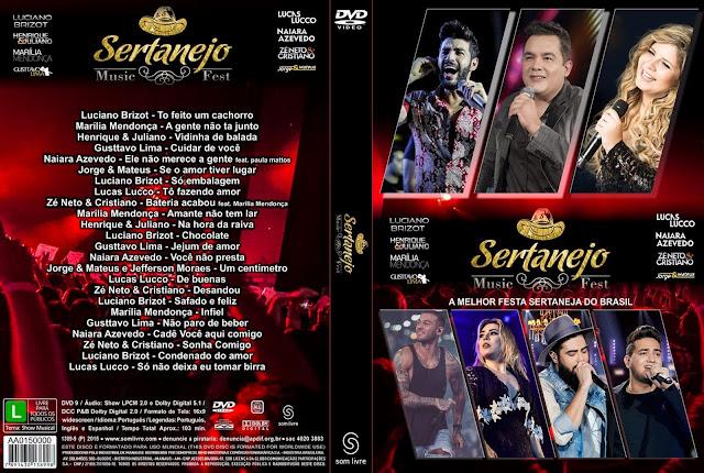 Capa DVD Sertanejo Music Fest