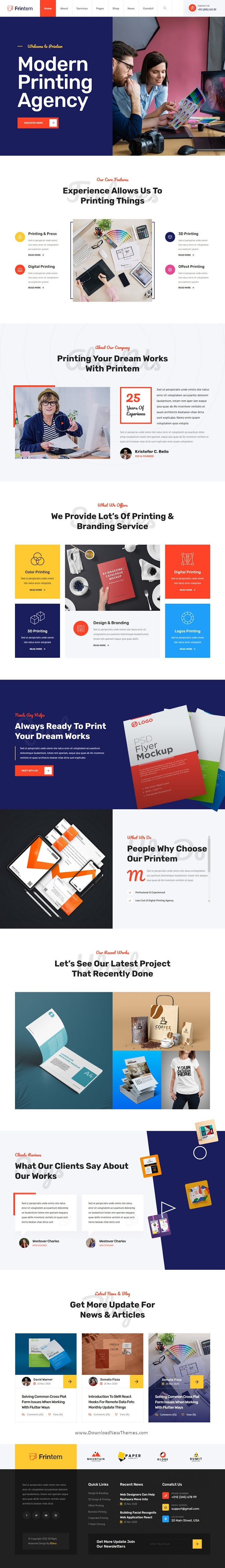 Printing Company HTML5 Template