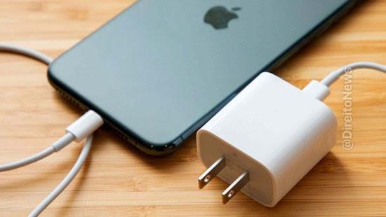 iphone 12 consumidor ganha justica carregador