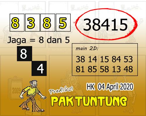 Prediksi HK Malam Ini Sabtu 04 April 2020 - Prediksi HK Pak Tuntung